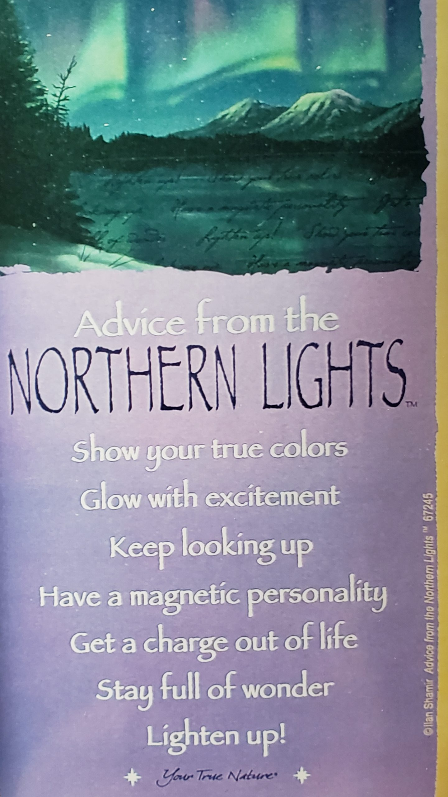 Advice from Northen Lights