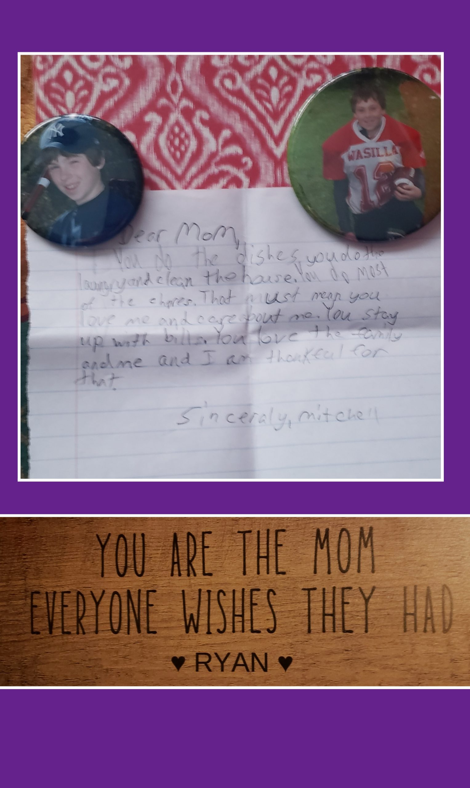 From my Sons
