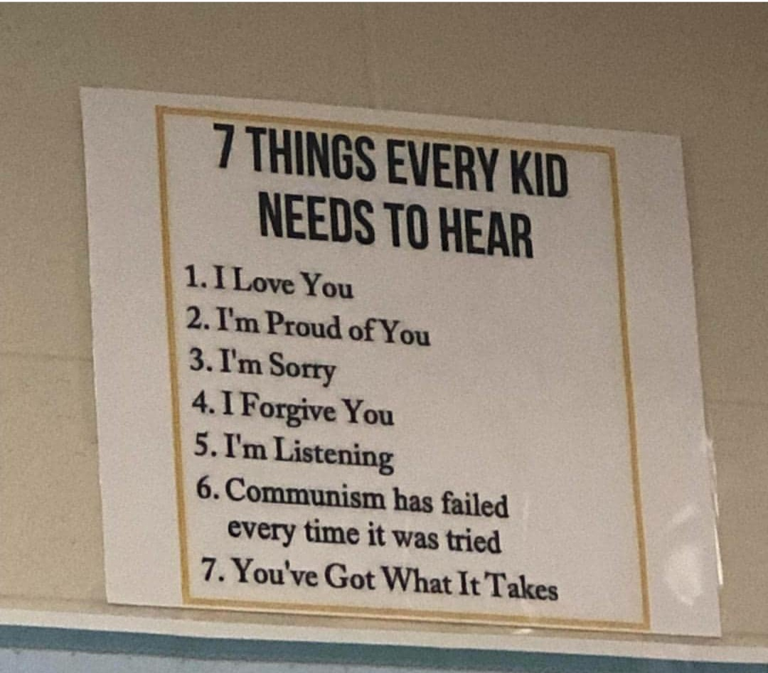 Things Children need to hear !