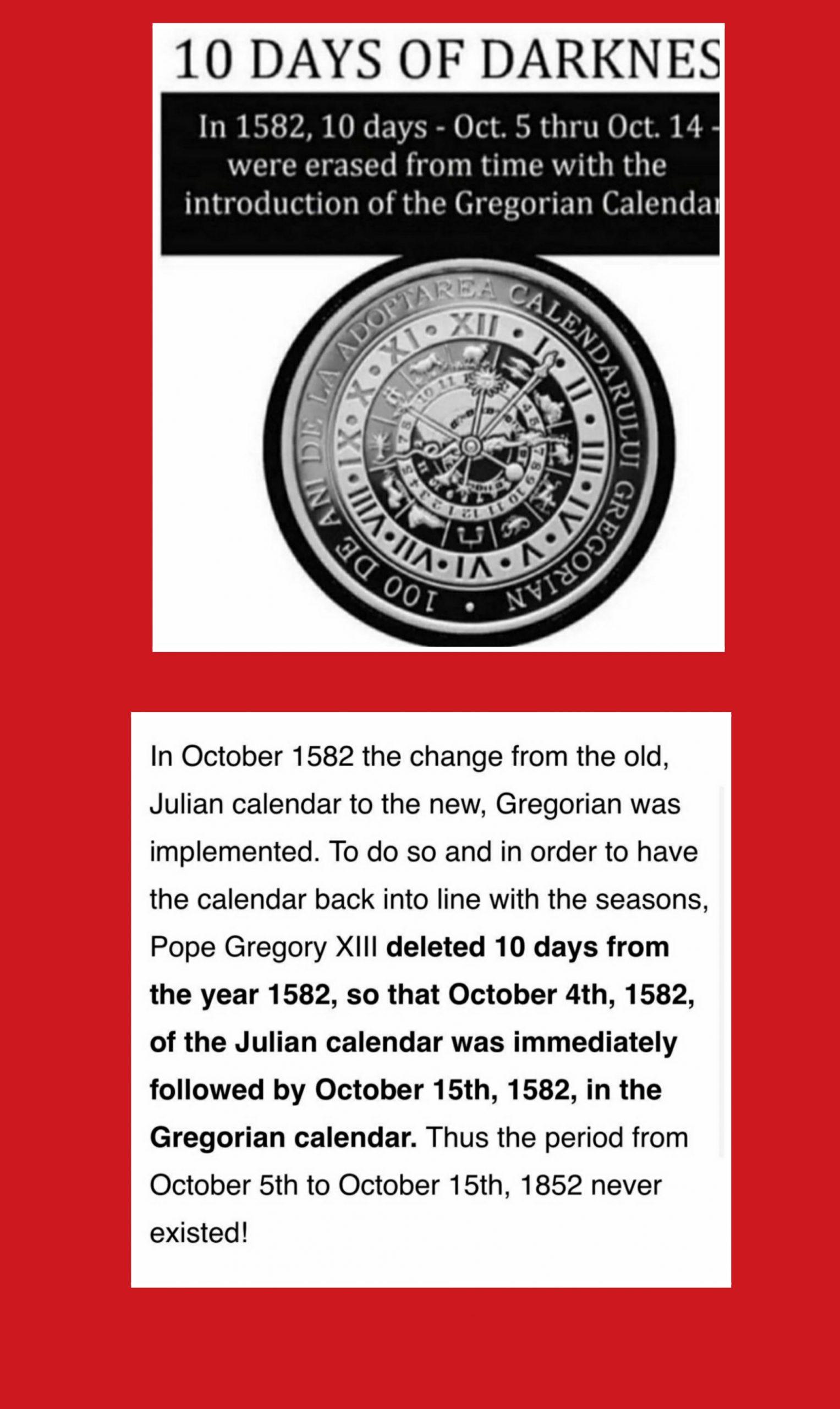 Gregorian / Julian Calender