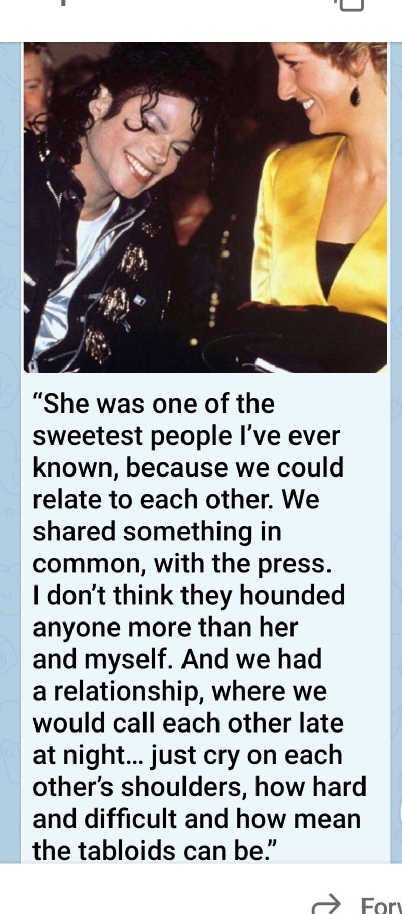 Micheal Jackson and Princess Diana