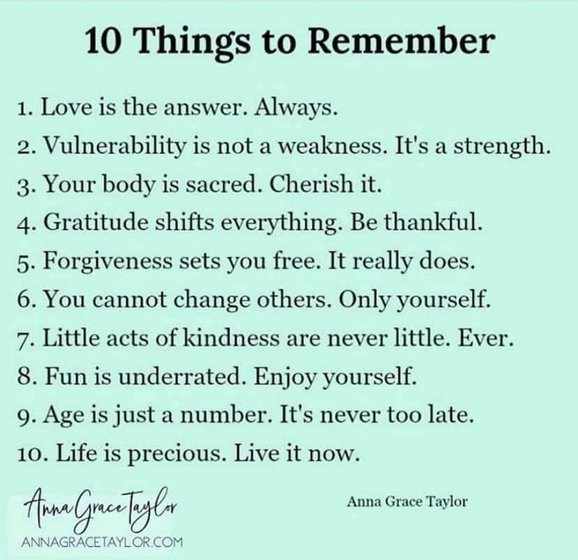 Things to Always Remember